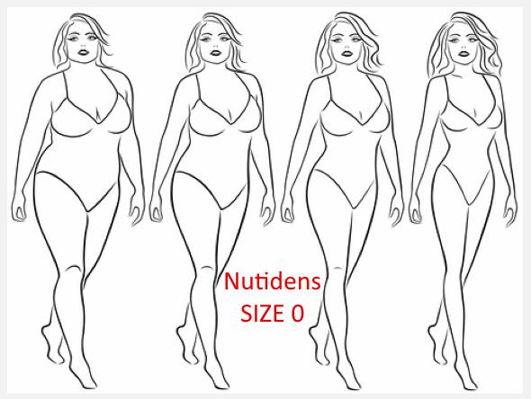 tøj i størrelse size zero
